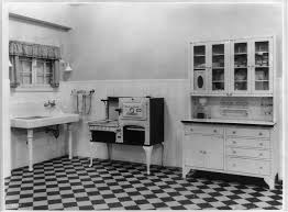 Sink Western Electric Stove And Cabinet In A Model Kitchen
