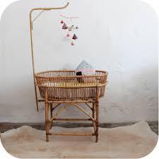 chambre bébé vintage mobilier vintage lit bébé rotin vintage atelier du petit parc