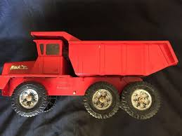 100 Red Dump Truck Vintage Mack Buddy L Pressed Steel Toy With