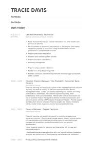 Certified Pharmacy Technician Resume Example
