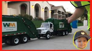 100 Waste Management Toy Garbage Truck Romans Play Day Video For