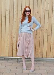 maternity style the pink pleated skirt forever amber uk
