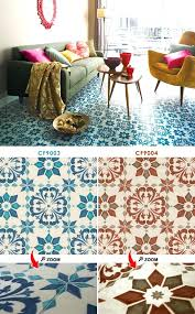 Retro Patterned Vinyl Floor Tiles
