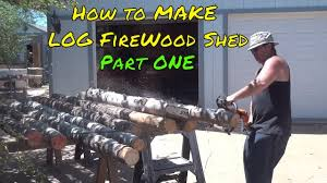 building a bad firewood shed shed p1 youtube