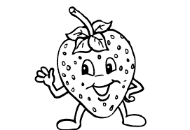 Download Strawberry Fruit Coloring Pages For Kids Or Print
