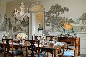 Custom Handmade Wallpaper In The Victorian Style Dining Room Design Crisp Architects