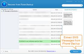 How to Extract & Recover SMS Messages from iPhone Backup