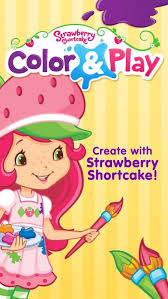 IPhone Strawberry Shortcake Free Coloring Book App For Kids With Animals Princesses Ballerinas
