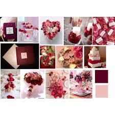 Burgundy Blush Cream Wedding Scheme