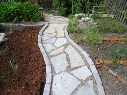 Patio Floor Lighting Ideas by Exterior Exciting Stone Walkway With Pea Gravel Patio And Outdoor