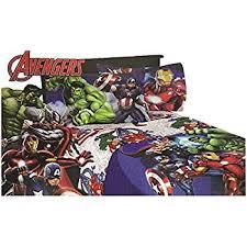 Amazon 4pc Marvel Avengers Full Bed Sheet Set Superhero Halo