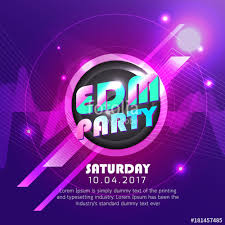 Electronic Dj Music Party Design Background Poster Vector