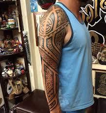 Impressive Full Sleeve Tribal Tattoo Designs For Masculine Men