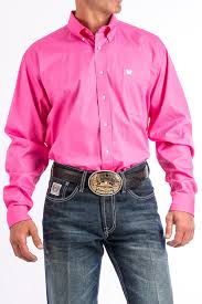 cinch jeans men u0027s solid pink button down western shirt