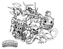 Epic Skylanders Coloring Pages 61 In Line Drawings With