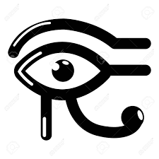 Eye Horus Icon Simple Black Style Royalty Free Cliparts Vectors