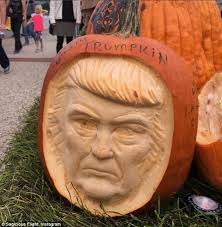Largest Pumpkin Ever Carved by Trumpkins Ken Bone And Creepy Clowns Are This Year U0027s Halloween