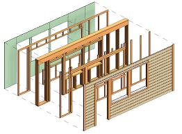 framing timber walls in revit model wood framing wall agacad
