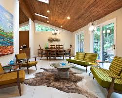 Dining Hall Ceiling Design Living Room Midcentury With Patio Doors Sliding