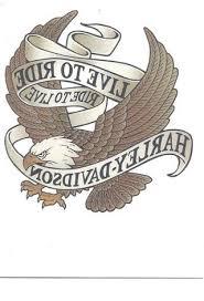 FREE Harley Davidson Temporary Tattoo Live To Ride