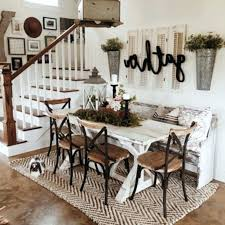 Small Farmhouse Dining Table And 4 Chairs Room Ideas Wall Decor Modern