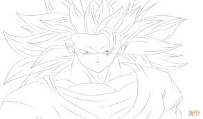 Click The Goku From Dragon Ball Z Coloring Pages To View Printable