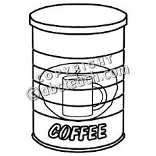 Coffee Can Clipart 1