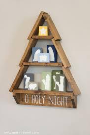 DIY Holiday Tree Shelfwith Nativity Blocks Make It And Love