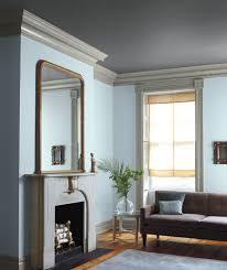 decorating items for bedroom light blue walls with gray trim