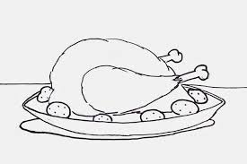 Cooked Turkey Dinner Coloring Sheet Click To Go Media Fire And Download Your Copy