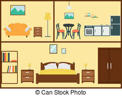 Home Interior Vector Clipart Illustrations 39143