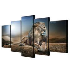 details zu löwe 3d wandbilder leinwand bilder abstrakt kunstdruck wohnzimmer dekoration