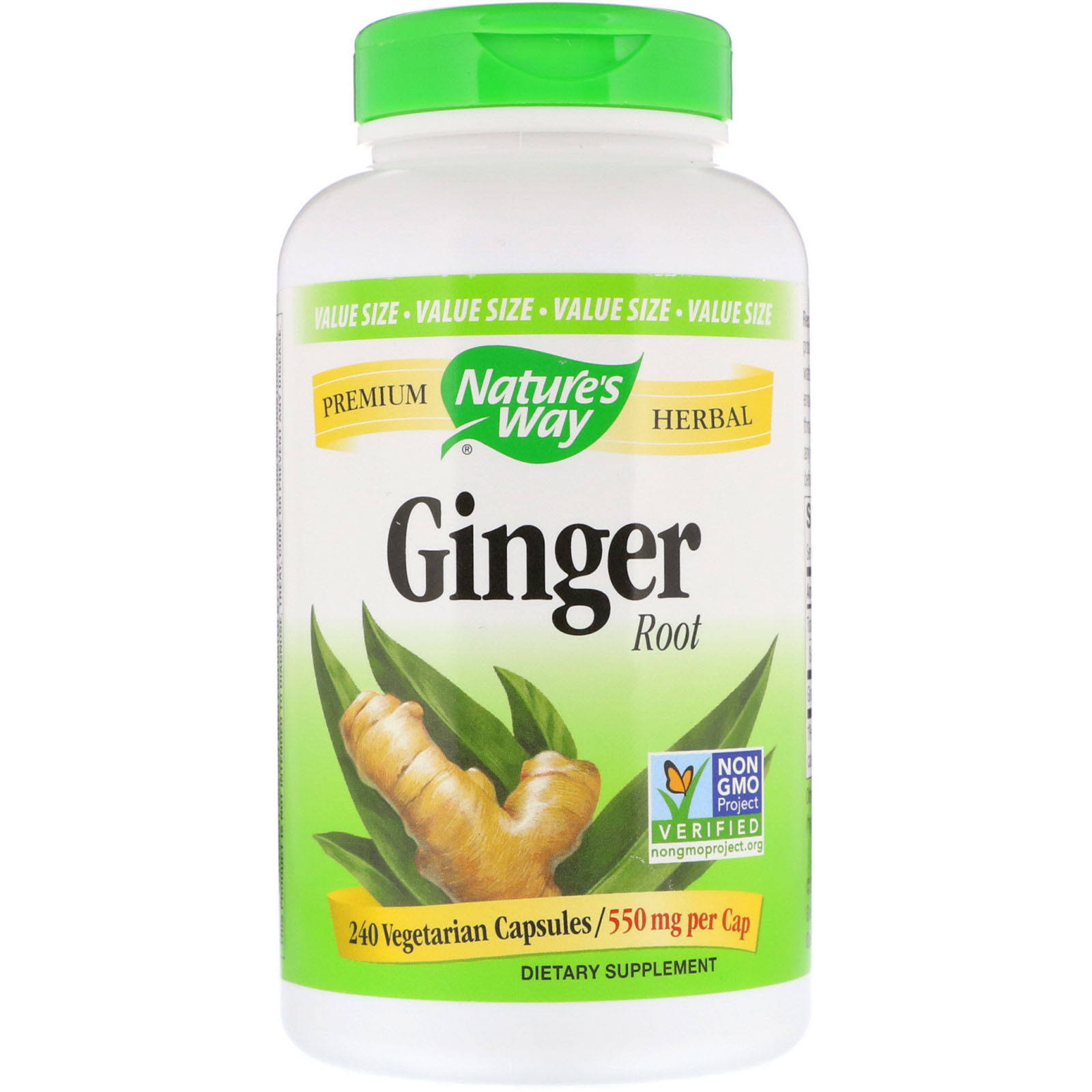 Nature's Way Ginger Root - 550mg, 240ct