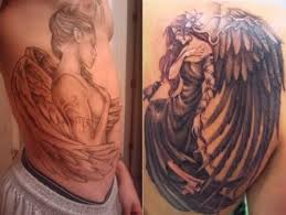 When Looking For An Angel Tattoo The Meanings And Designs Are Never Ending In Regards To Religious Or Spiritual Sense Tattoos May Highlight A