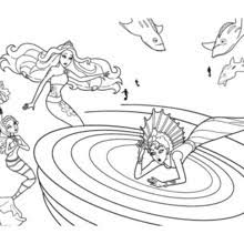 ERIS Stuck In The Whirlpool Free Barbie Coloring Page