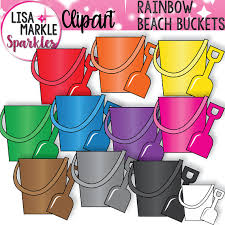 Rainbow Clipart Beach Summer Bucket