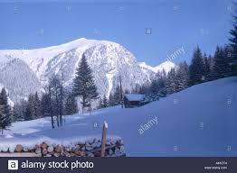 100 Log Cabins Switzerland Cabin On Snowcovered Landscape Alps Stock Photo