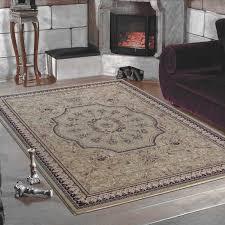 klassischer orientalischer wohnzimmer teppich marrakesh 0209 beige größe 80x150 cm