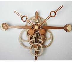Free Wood Clock Plans by Cnc Laser Cutting