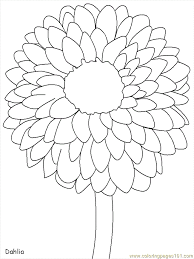 Coloring Pages Mexican Dahlia Countries Mexico