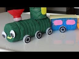 Recycled Crafts Ideas For Kids DIY Colorful Train From Plastic Bottles Christian Club
