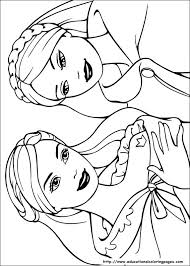 Disney Coloring Pages Free Frozen Barbie Princess For Kids