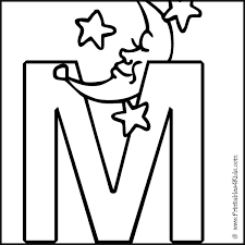 Alphabet Coloring Page Letter M Printables For Kids Free Word Search Puzzles Pages And Other Activities