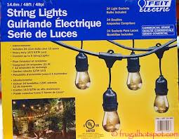costco sale feit electric string lights 34 99 frugal hotspot
