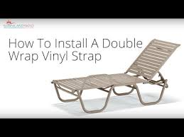 Vinyl Straps For Patio Chairs by How To Install A Double Wrap Vinyl Strap Youtube