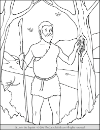 John The Baptist Coloring Pages Printable 4