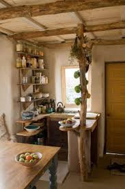 Narrow Kitchen Using Mounted Shelve Also Minimalist Wooden Cabinet Decor