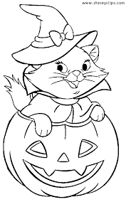 Disney Halloween Pumpkin Mickey Coloring Pages View Larger