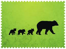 The Black Bear Her Cubs Svg Ai Mother Clipart Cub