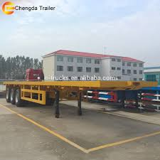 20 Ton Small Utility Tanzania Log Used Flatbed Loader Trailer For ...